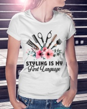 Styling is my first language Ladies T-Shirt lifestyle-women-crewneck-front-7