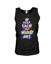 Keep calm and Make Art Unisex Tank thumbnail
