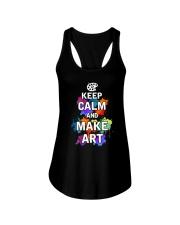 Keep calm and Make Art Ladies Flowy Tank thumbnail