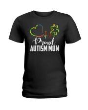 Autism Mom Ladies T-Shirt front
