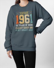 1961 - Being Classy Sassy And Smart Assy Crewneck Sweatshirt apparel-crewneck-sweatshirt-lifestyle-front-09