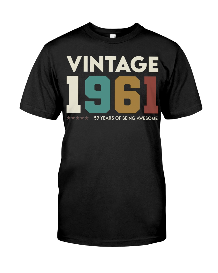 Vintage 1961 - 59 years awesome Classic T-Shirt
