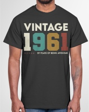 Vintage 1961 - 59 years awesome Classic T-Shirt garment-tshirt-unisex-front-03
