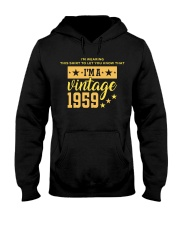 Let you know I'm a vintage 1959 Hooded Sweatshirt front