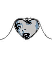 AP XXIII Metallic Heart Necklace front