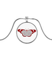 Frail Butterfly Metallic Circle Necklace thumbnail