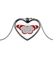 Frail Butterfly Metallic Heart Necklace thumbnail