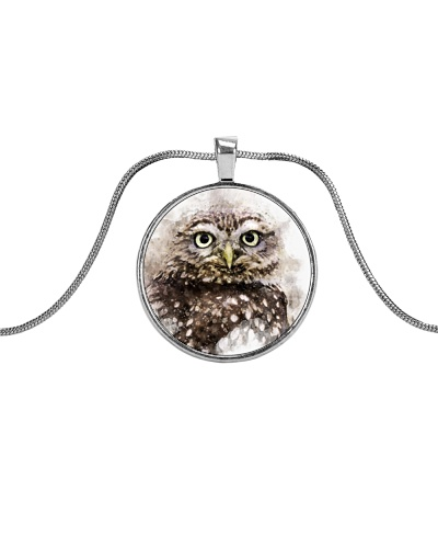 Little Owl Watercolor Necklace