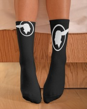 Shawns Wedding Sox Crew Length Socks aos-accessory-crew-length-socks-lifestyle-front-02