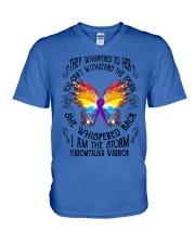 I am the Storm - Fibromyalgia Warrior V-Neck T-Shirt thumbnail