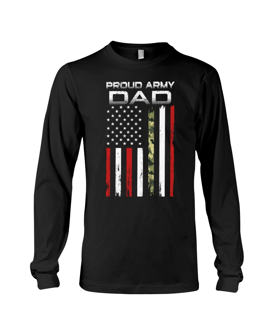 Proud Army Dad Long Sleeve Tee