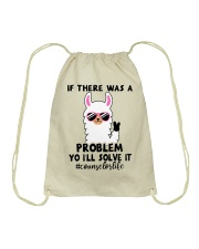 If there was a problem I'll solve it Drawstring Bag tile