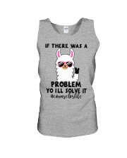 If there was a problem I'll solve it Unisex Tank front