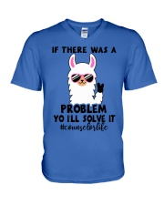 If there was a problem I'll solve it V-Neck T-Shirt tile