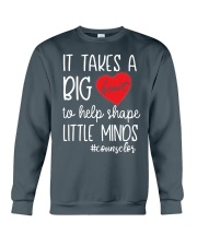 It takes a big Heart to help shape little minds Crewneck Sweatshirt thumbnail