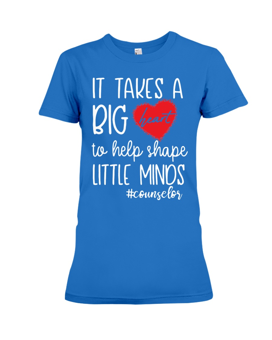 It takes a big Heart to help shape little minds Premium Fit Ladies Tee