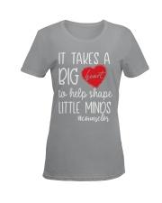 It takes a big Heart to help shape little minds Ladies T-Shirt women-premium-crewneck-shirt-front