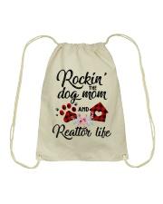 Rockin the dog mom and realtor life Drawstring Bag thumbnail