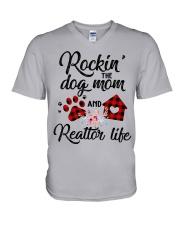 Rockin the dog mom and realtor life V-Neck T-Shirt thumbnail