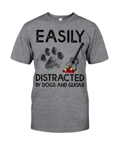 Easily Distracted by Dogs and guitar