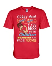 Crazy Mom V-Neck T-Shirt thumbnail