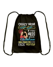 Crazy Mom Drawstring Bag thumbnail