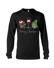 Merry Christmas Dog Wine Books Long Sleeve Tee thumbnail