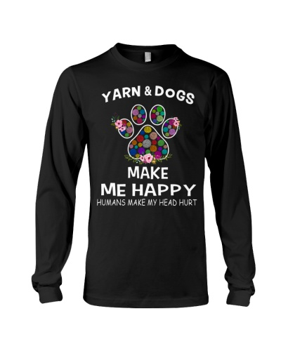Yarn and Dogs make me happy