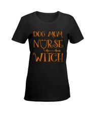 Dog Mom Nurse Witch Ladies T-Shirt women-premium-crewneck-shirt-front