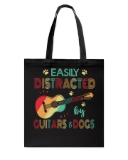 Easily Distracted by Guitars and Dogs Tote Bag thumbnail