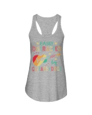 Easily Distracted by Guitars and Dogs Ladies Flowy Tank thumbnail
