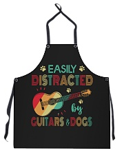 Easily Distracted by Guitars and Dogs Apron thumbnail