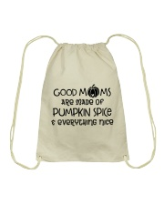 Good Moms are made of Pumpkin Spice  Drawstring Bag thumbnail