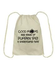 Good Moms are made of Pumpkin Spice  Drawstring Bag thumbnail