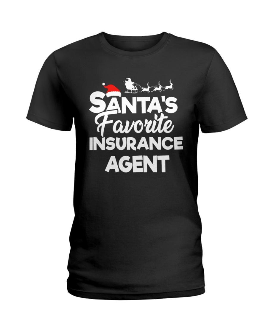 Santa's favorite Insurance Agent Ladies T-Shirt