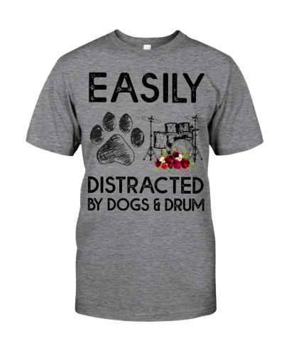 Easily Distracted by Dogs and drum