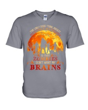 Multiple Sclerosis Halloween V-Neck T-Shirt thumbnail