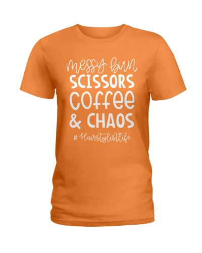 Messy bun - Scissors - Coffee and Chaos