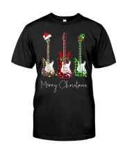 Merry Christmas Guitarist Classic T-Shirt front