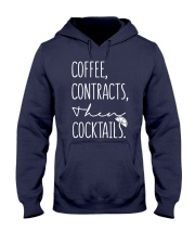 Coffee Contract Then Cocktails Hooded Sweatshirt thumbnail