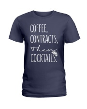 Coffee Contract Then Cocktails Ladies T-Shirt thumbnail