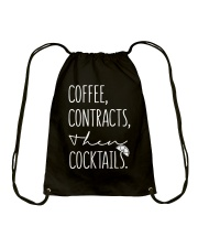 Coffee Contract Then Cocktails Drawstring Bag thumbnail