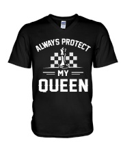 Always Protect My Queen V-Neck T-Shirt thumbnail