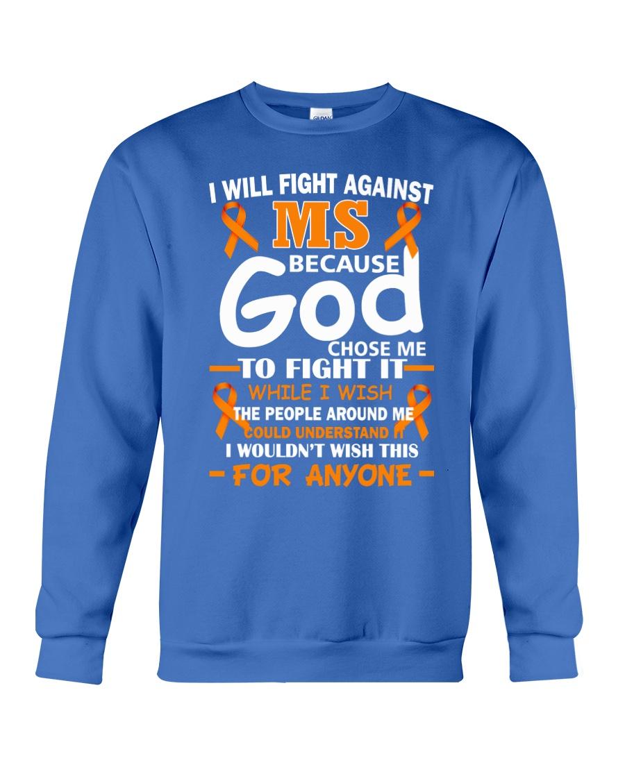 I will fight against MS Crewneck Sweatshirt showcase