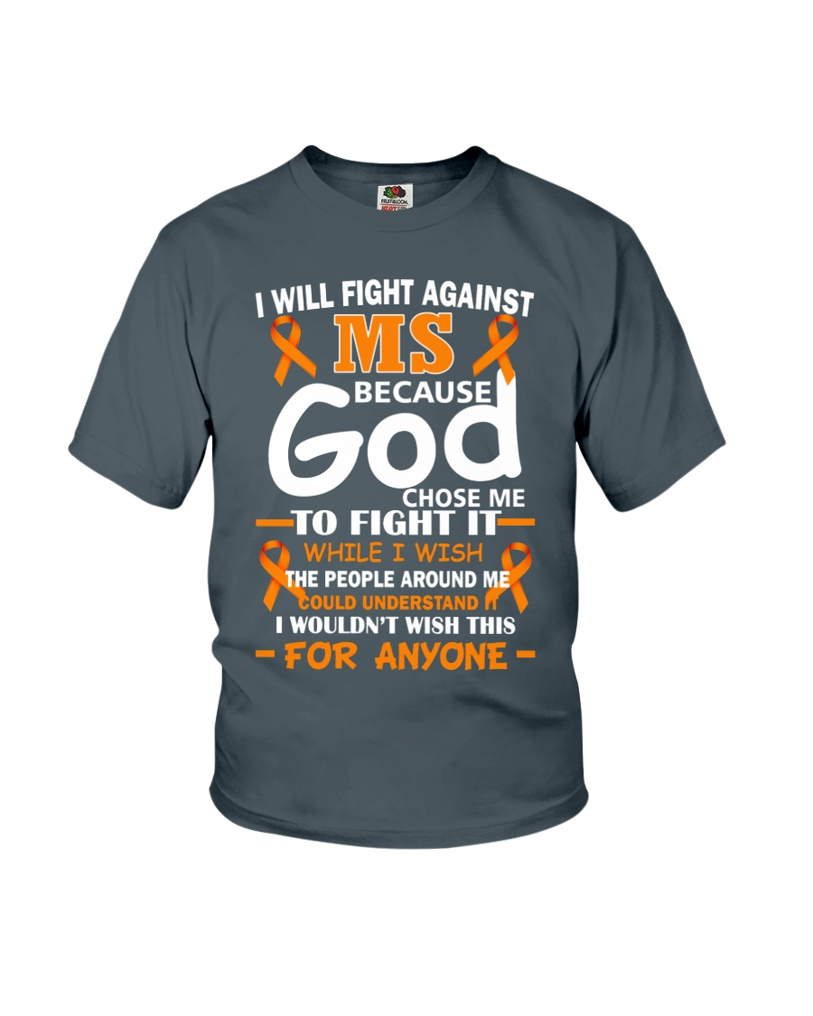 I will fight against MS Youth T-Shirt