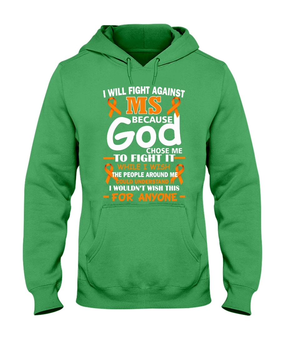 I will fight against MS Hooded Sweatshirt