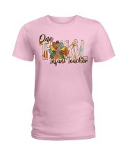 Infant Teacher Thanksgiving Ladies T-Shirt front