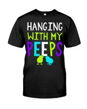 Hanging with my peeps funny easter t shirt Premium Fit Mens Tee thumbnail