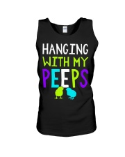 Hanging with my peeps funny easter t shirt Unisex Tank thumbnail