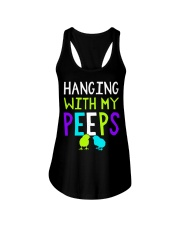 Hanging with my peeps funny easter t shirt Ladies Flowy Tank thumbnail